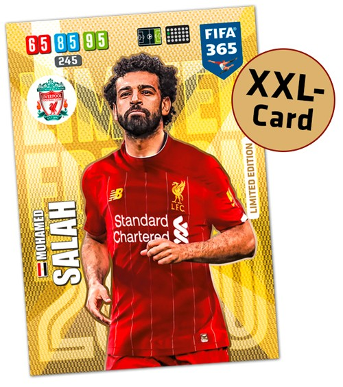 Panini FIFA 365 Adrenalyn XL 2020 Kollektion – XXL LE-Card Mohamed Salah