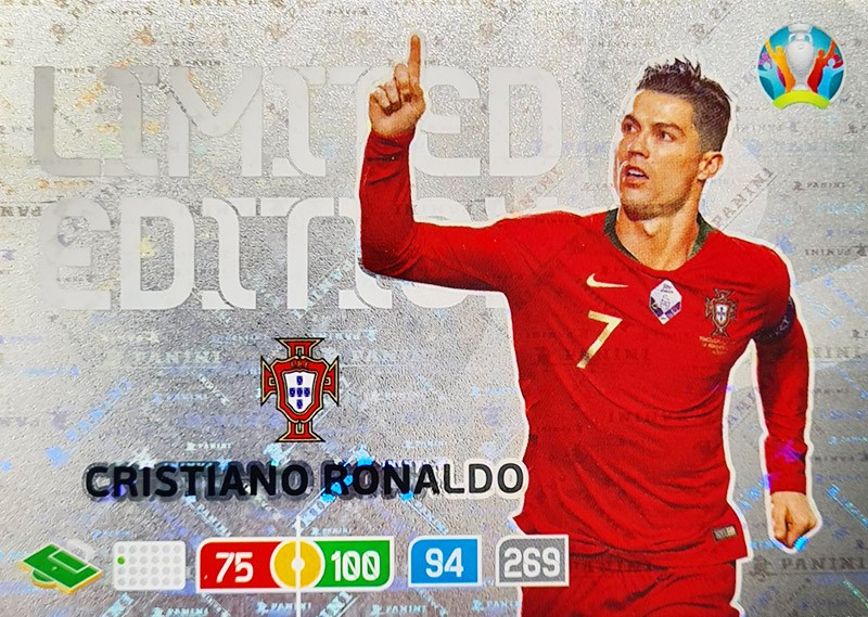 UEFA EURO 2020 Adrenalyn XL - Official Preview Collection - Limited Edition Card Cristiano Ronaldo