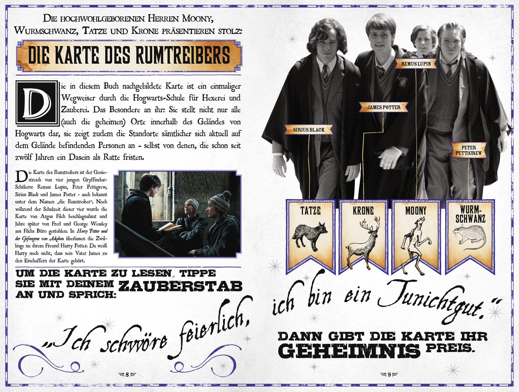 Karte Des Rumtreibers.Harry Potter Die Karte Des Rumtreibers Eine Reise Durch Hogwarts