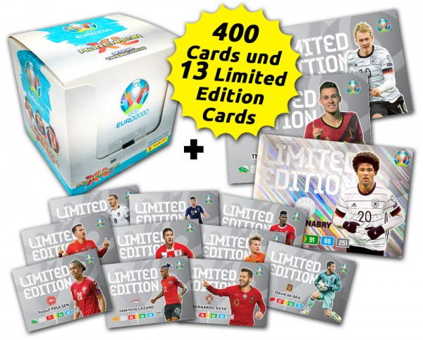 UEFA Euro 2020 Adrenalyn XL Limited Edition Card Bundle