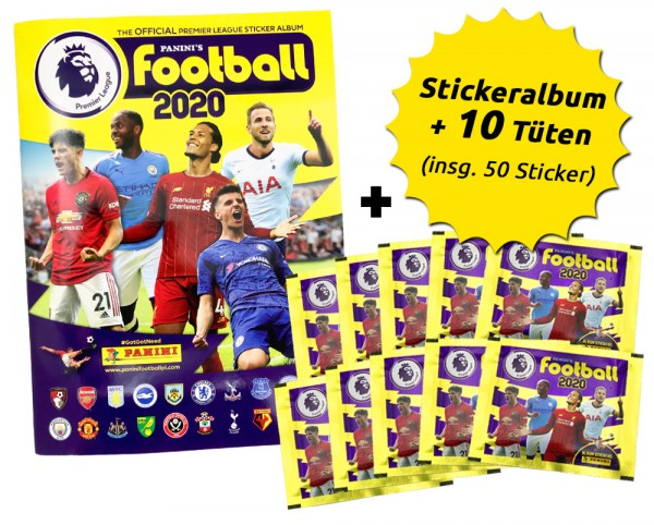 Premier League 2020 Stickerkollektion – Schnupperbundle