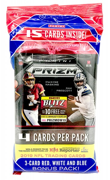 NFL 2019 Panini PRIZM Trading Cards - Multipack