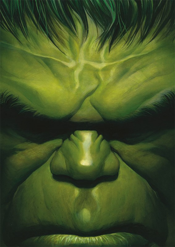 80 Jahre Marvel Sticker und Cards - Beispiel Hulk