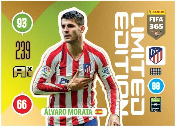 Panini FIFA 365 Adrenalyn XL 2021 Kollektion – LE-Card Alvaro Morata Vorne
