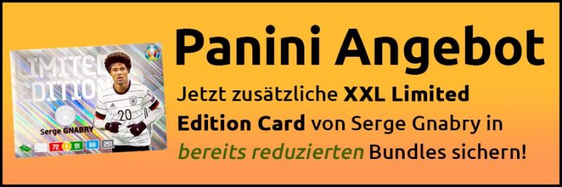 Panini-Angebot - zusätzliche XXL Limited Edition Card Serge Gnabry