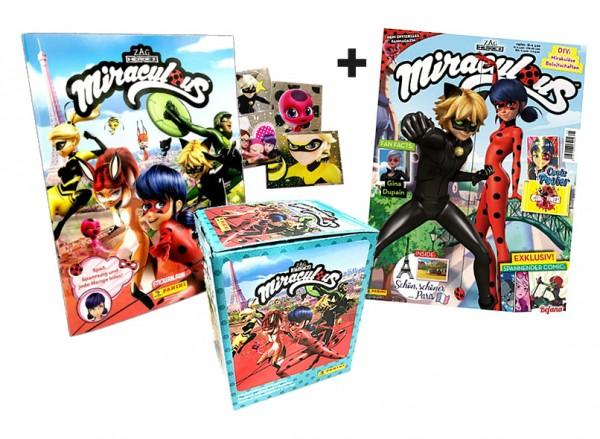 Miraculous Fan-Paket mit Stickern, Cards und Magazin