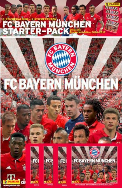 FC Bayern München 2016/2017 Sticker Kollektion - Starter Set