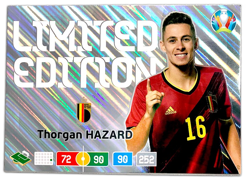 Abbildung der Euro 2020 Limited Edition Card von Thorgan Hazard XXL
