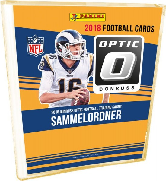 NFL 2018 DONRUSS Optic Football Trading Cards - Sammelordner