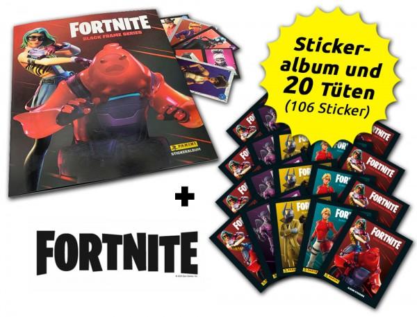 Fortnite Reloaded - Black Frame Series - Sticker - Sammelbundle Inhalt