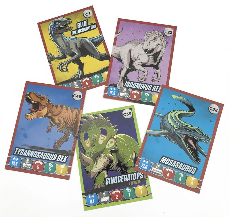 Jurassic World Anthology Sticker & Cards Dinosaurier Trading Cards Beispiel