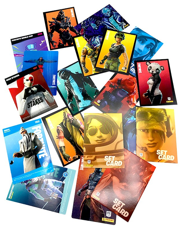 Fortnite Reloaded Trading Cards Verschiedene Cards Beispiele