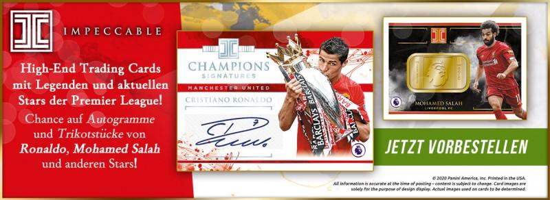 Impeccable Soccer Premier League Trading Cards - High End Trading Cards mit Legenden und aktuellen Stars der Premier League!