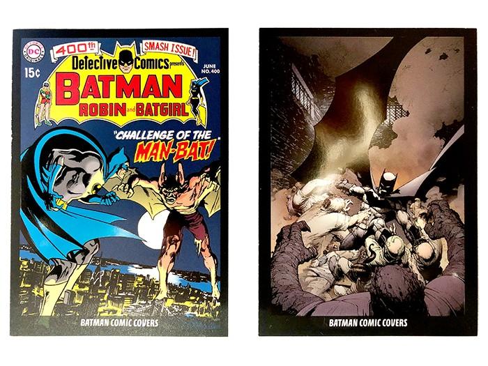 80 Jahre Batman Jubiläumskollektion: Batman Comic Covers Trading Cards Beispiel vorne