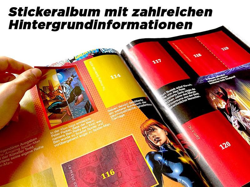 Marvel 80 Jahre Sammelkollektion –Stickerkollektion mit zahlreichen Hintergrundinformationen