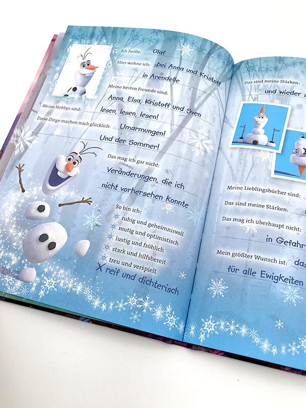 Disney Die Eiskönigin 2 - Mein Anna-Freundebuch Beispiel ausgefüllte Innenseite Olaf
