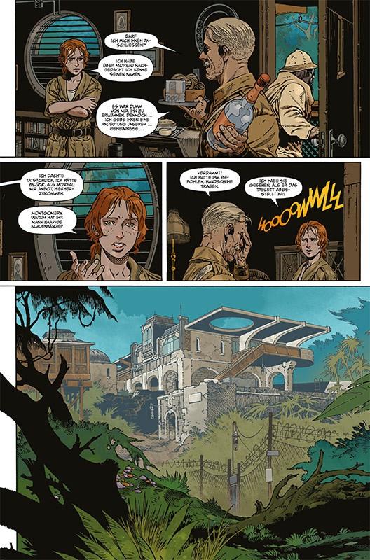 Die Insel des Dr. Moreau – Der Klassiker der Science-Fiction und Horrorliteratur als Comic – Blick auf eine Innenseite