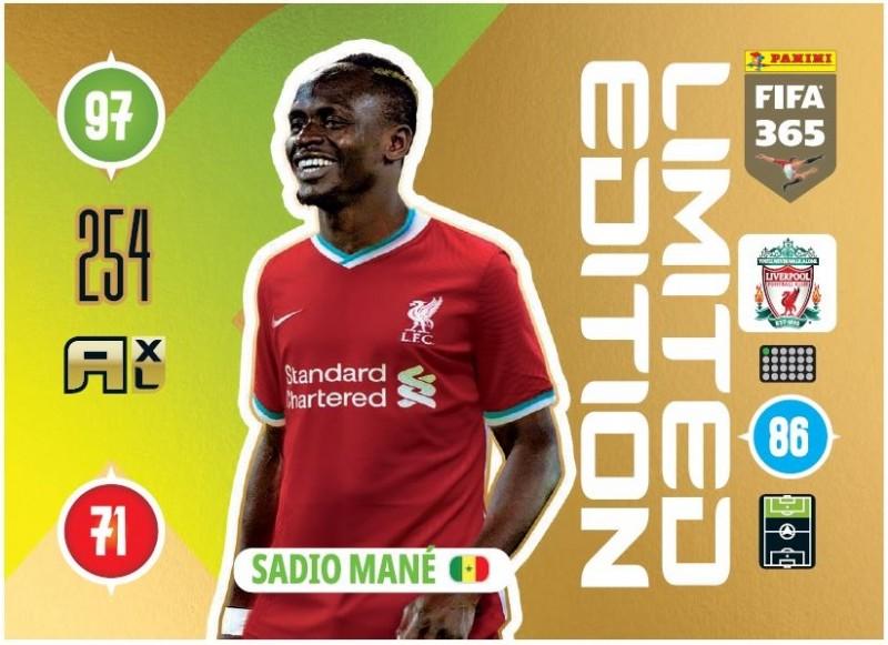 Panini FIFA 365 Adrenalyn XL 2021 - Limited Edition Card Sadio Mane