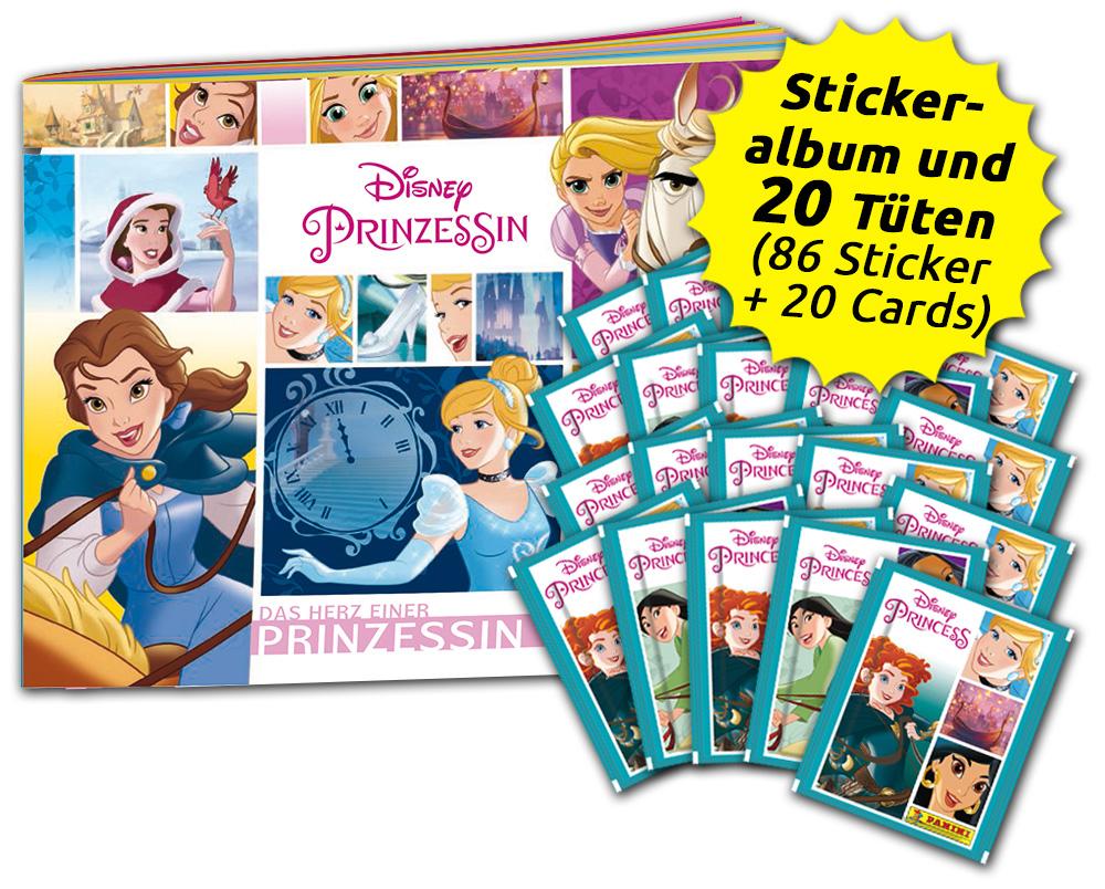 Disney Prinzessin - Das Herz einer Prinzessin - Sticker- und Trading Cards-Sammelbundle