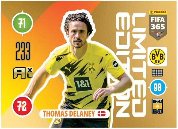 Panini FIFA 365 Adrenalyn XL 2021 Kollektion – LE-Card Thomas Delaney Vorne
