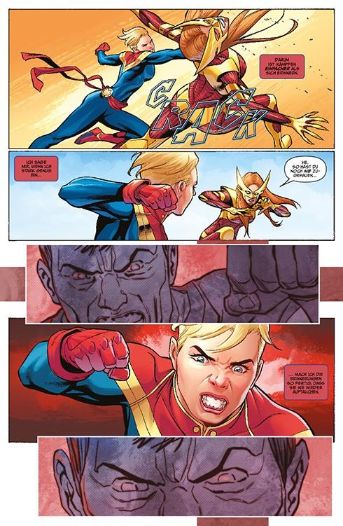 Captain Marvel: Die ganze Geschichte Blick in den Comic Vorschauseite