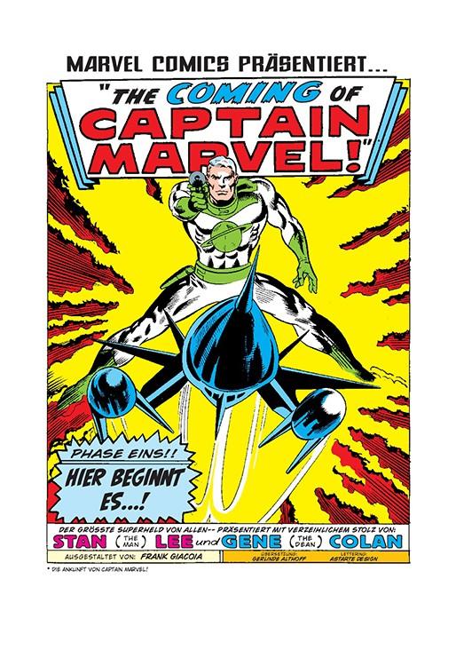 Captain Marvel Anthologie Blick in den Comic Vorschauseite