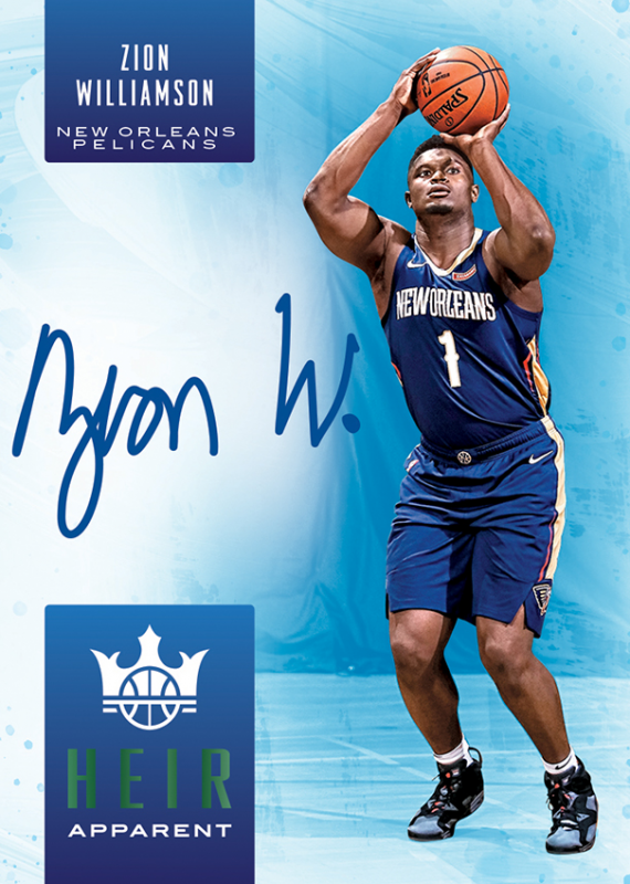 NBA Court Kings 2019/20 Trading Cards - Autogramm-Card Zion Williamson
