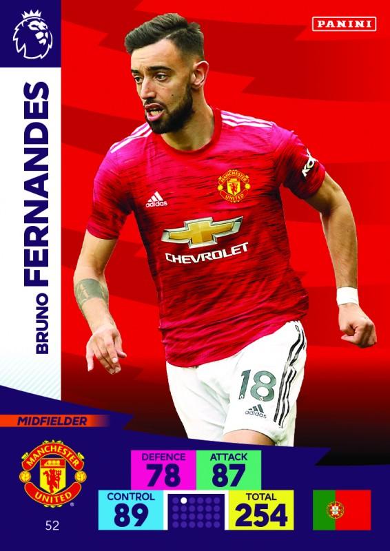 Panini Premier League Adrenalyn XL 2020/21 - Bruno Fernandes