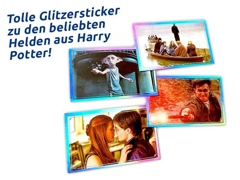 Harry Potter Sticker und Cards Regenbogeneffekt Beispiel Sticker