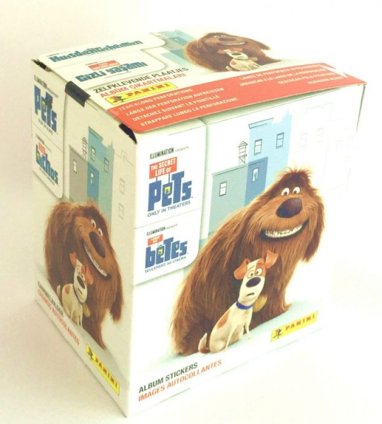 Pets Movie Stickerkollektion - Box mit 36 Tüten