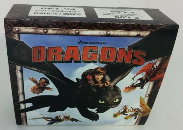 Dragons - Sammelkarten - Box mit 24 Tüten