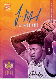 NBA Court Kings 2019-20 Trading Cards - Hobbybox - Autogramm-Card Ja Morant