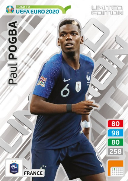 Road To UEFA Euro 2020 Adrenalyn XL - LE-Card Paul Pogba/Fra