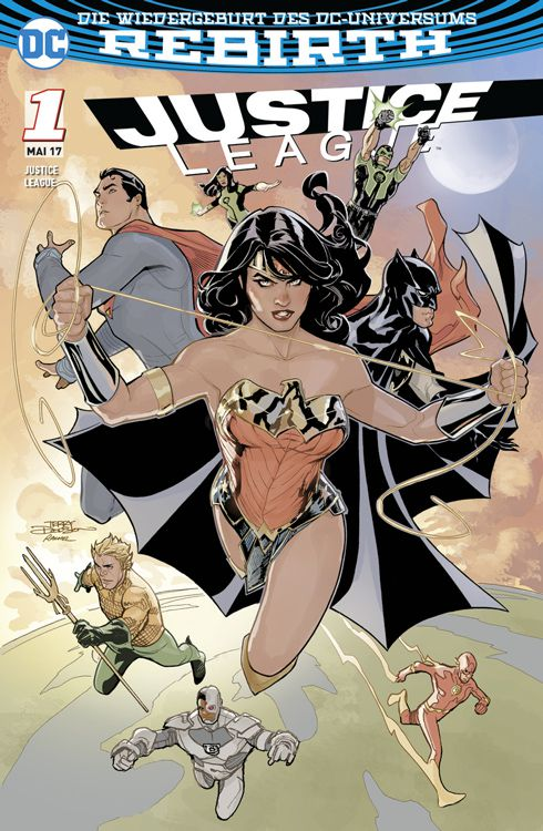 Justice League 1 (2017) Variant B