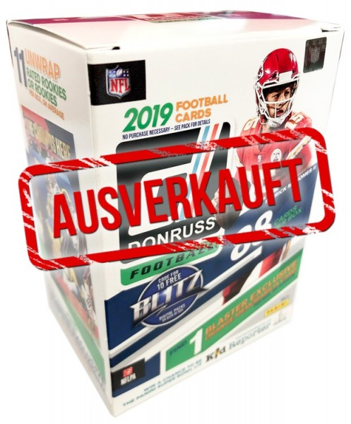 NFL 2019 Donruss Football Trading Cards - Blasterbox