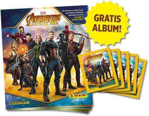 Avengers Infinity War Sticker und Trading Cards Kollektion - Starter-Bundle 3