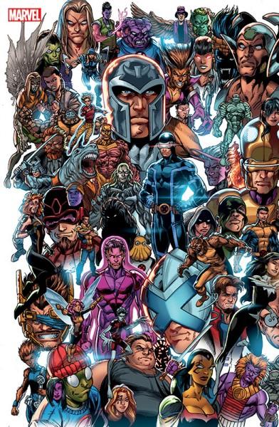X-Men Panorama Variant Cover