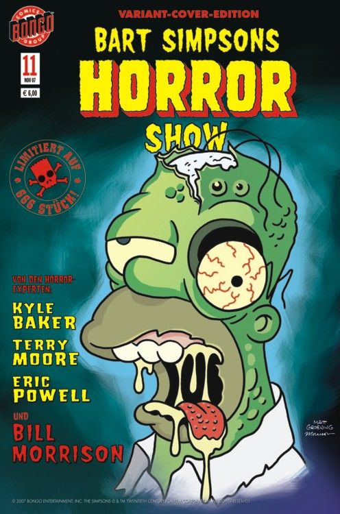 Bart Simpsons Horror Show 11 Variant