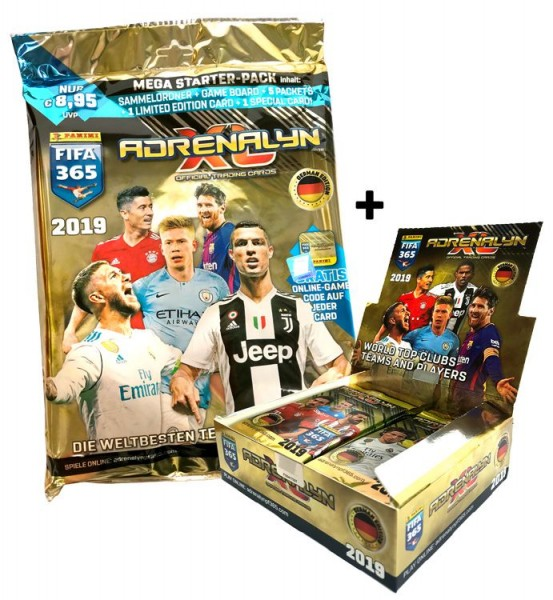 Panini FIFA 365 Adrenalyn XL 2019 Kollektion – Starter-Bundle 2