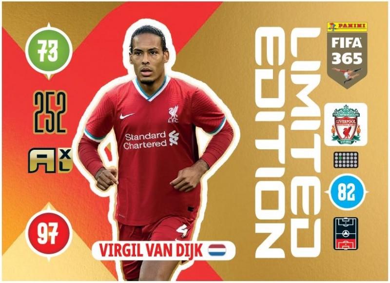 Panini FIFA 365 Adrenalyn XL 2021 - Limited Edition Card Vigil van Dijk