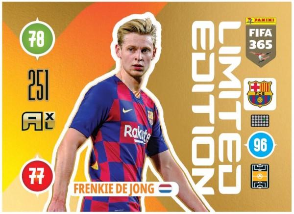 Panini FIFA 365 Adrenalyn XL 2021 Kollektion – LE-Card Frenkie de Jong Vorne