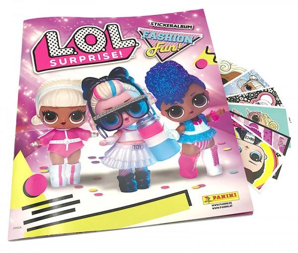 L.O.L. Surprise! Fashion Fun! Stickerkollektion - Album Cover und 6 Sticker