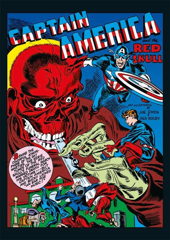80 Jahre Marvel Sticker und Cards Beispiel Sticker Captain America Cover