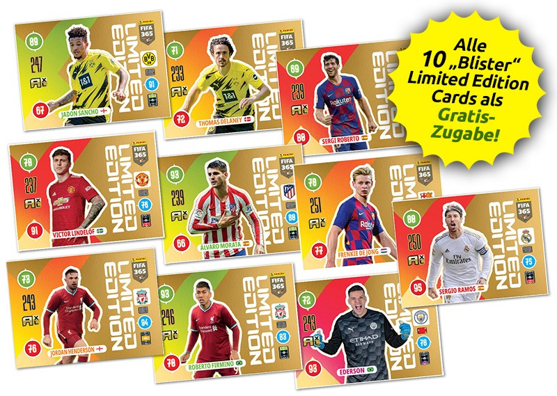 Panini FIFA 365 Adrenalyn XL 2021 - Blister Limited Edition Cards