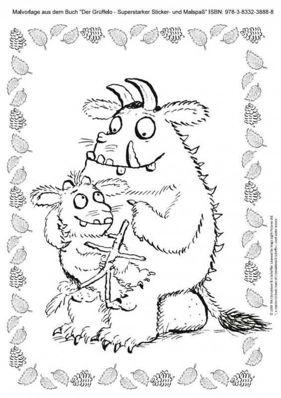 Grüffelo und Grüffelokind zum Ausmalen Vorschau