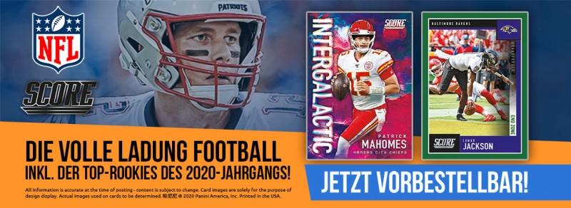 Die volle Ladung Football inkl. der Top-Rookies des 2020-Jahrgangs: NFL Score jetzt vorbestellen!