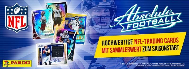 Absolute Football 2019 - Hochwertige NFL Trading Cards mit Sammlerwert zum Saisonstart