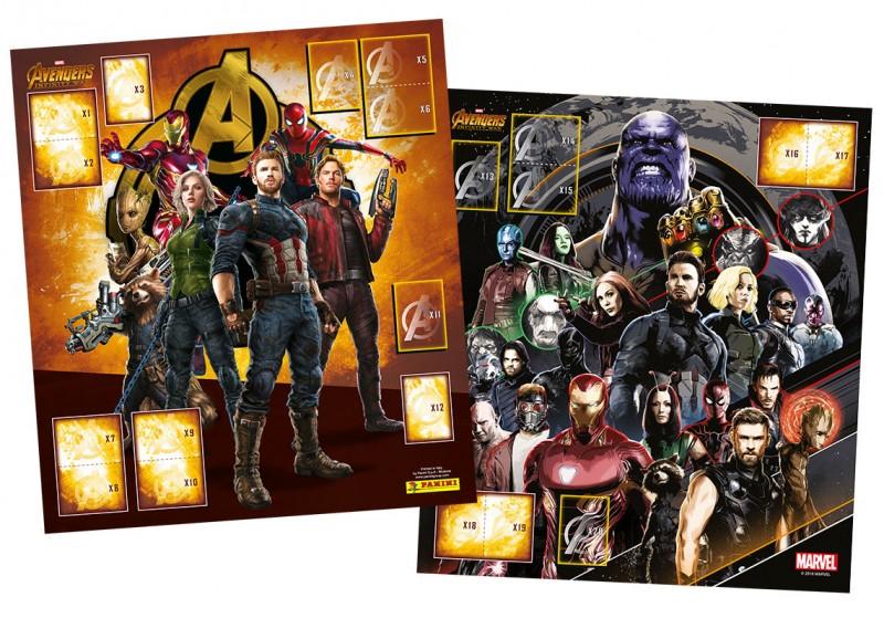 Avengers Sticker zum Sammeln – Blick ins Album