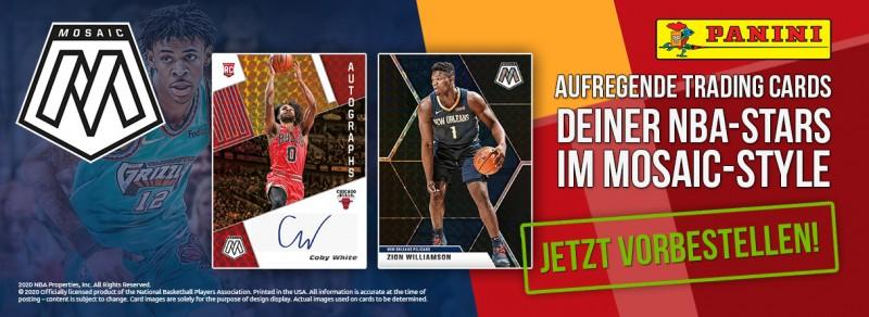 NBA Basketball Mosaic Trading Cards 2019/20 - Aufregende Trading Cards deiner NBA-Stars im Mosaic-Style
