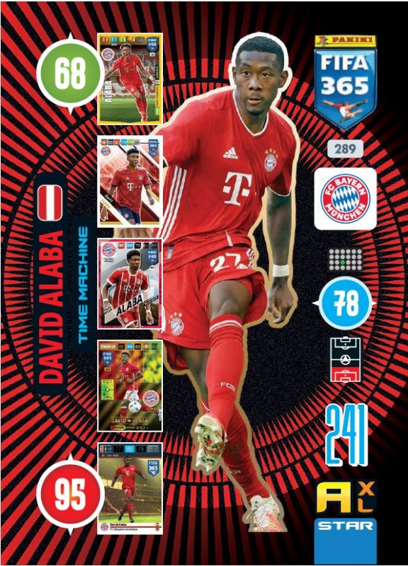 Abbildung von Time Machine Card Alaba der FIFA 365 Adrenalyn XL 2021